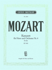 Mozart: Horn Concerto 4 in Eb KV495 for Horn published by Breitkopf