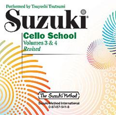 Suzuki Cello School Volume 3 and 4 CD Only published by Alfred