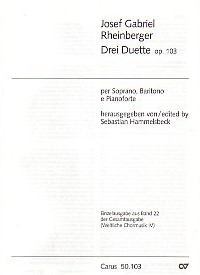 3 Duets Opus 103 by Rheinberger published by Carus Verlag