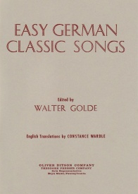 Easy German Classic Songs published by Presser