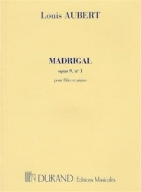 Madrigal by Aubert for flute published by Durand