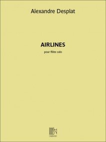 Desplat: Airlines for Solo Flute published by Durand