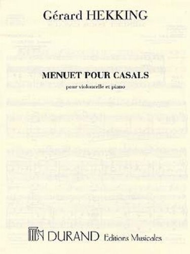 Hekking: Menuet pour Casals for Cello published by Durand
