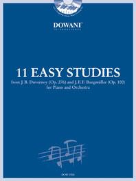 11 Easy Studies for Piano and Orchestra published by Dowani
