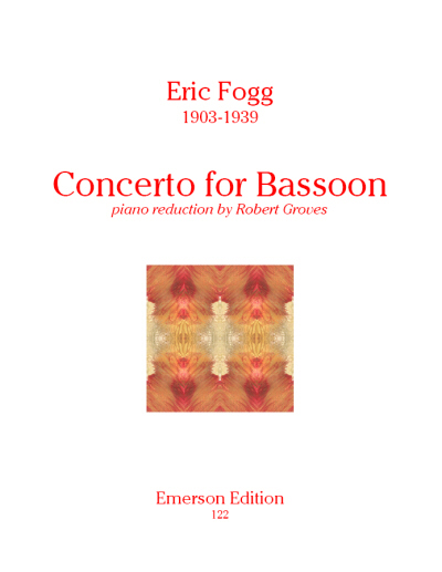 Fogg: Concerto for Bassoon published by Emerson