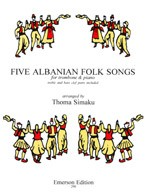5 Albanian Folk Songs for Trombone published by Emerson