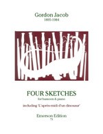 4 Sketches for Bassoon by Jacob published by Emerson