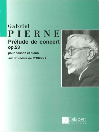 Pierne: Concert Prelude on a theme of Henry Purcell Opus 53 for Bassoon published by Salabert