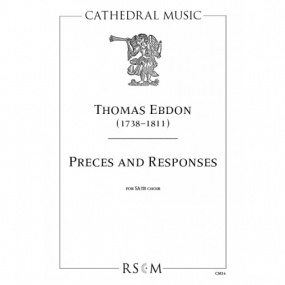Ebdon: Preces and Responses SATB published by Cathedral Music