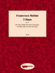 Molino: 3 Duos for Flute & Guitar published by Chanterelle