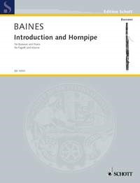 Introduction and Hornpipe by Baines for Bassoon published by Schott