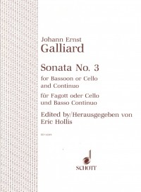 Galliard: Sonata No 3 in F for Cello or Bassoon published by Schott