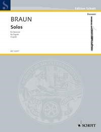Braun: Bassoon Solos 1740 published by Schott