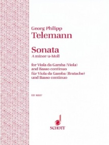 Telemann: Sonata in A minor for Viola published by Schott