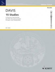 Davis: 15 Studies for Descant Recorder published by Schott