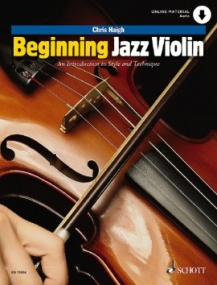 Beginning Jazz Violin published by Schott (Book & Online Audio)