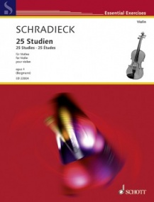 Schradieck: 25 Studies for Violin published by Schott