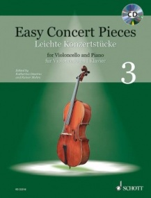 Easy Concert Pieces 3 for Cello Book & CD published by Schott
