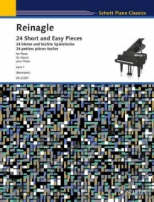 Reinagle: 24 Short and Easy Pieces for Piano published by Schott