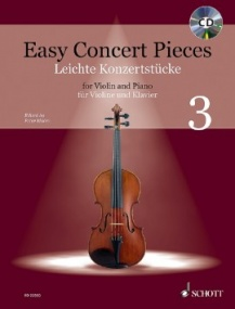 Easy Concert Pieces 3 Book & CD for Violin published by Schott