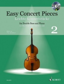 Easy Concert Pieces 2 Book & CD for Double Bass published by Schott