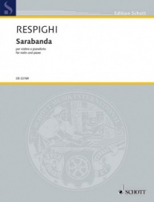 Respighi: Sarabanda for Violin published by Schott