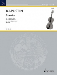 Kapustin: Sonata Opus 69 for Viola published by Schott