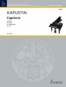 Kapustin: Capriccio Opus 71 for Piano published by Schott