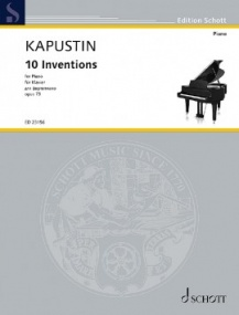 Kapustin: 10 Inventions for Piano published by Schott