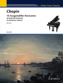 Chopin: 10 Selected Nocturnes for Piano published by Schott