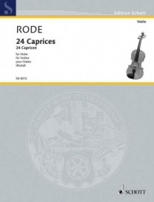 Rode: 24 Caprices for Violin published by Schott