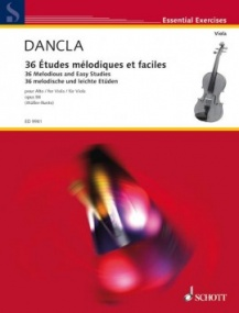 Dancla:  36 Melodious and Easy Studies Opus 84 for Viola published by Schott