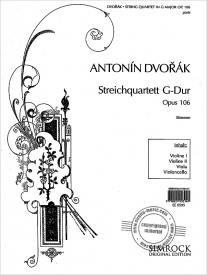 Dvorak String Quartet in G Opus 106 published by Simrock
