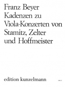 Beyer: Cadenzas for Viola Concertos by Stamitz, Zelter & Hoffmeister published by Kunzelmann