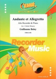 Balay: Andante et Allegretto for Alto Recorder published by Reift