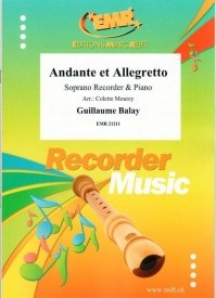 Balay: Andante et Allegretto for Soprano Recorder published by Reift