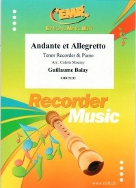 Balay: Andante et Allegretto for Tenor Recorder published by Reift