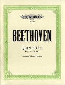 Beethoven: Complete String Quintets published by Peters