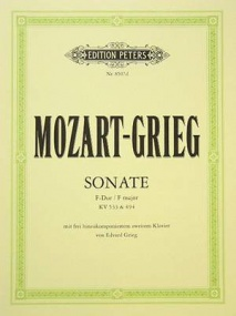 Mozart: Sonata in F major K533 (with Rondo K494) for Two Pianos published by Peters