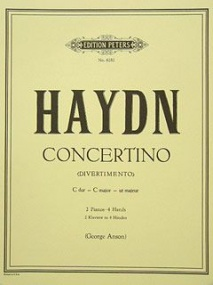 Haydn: Concertino in C Hob. XIV:3 for Two Pianos published by Peters