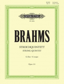 Brahms: String Quintet in G Opus 111 published by Peters