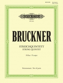 Bruckner: String Quintet in F published by Peters
