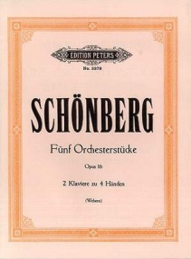 Schoenberg: 5 Orchestral Pieces Opus 16 for Two Pianos published by Peters