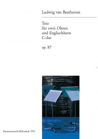 Beethoven: Trio in C major Opus 87 for 2 Oboes & Cor Anglais published by Breitkopf