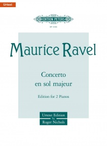 Ravel: Concerto in G Major for Two Pianos published by Peters