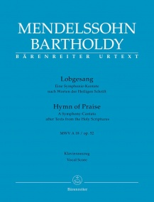 Mendelssohn: Hymn Of Praise published by Barenreiter - Vocal Score