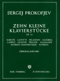 10 Kleine Klavierstücke Opus 12 for Piano by Prokofiev published by Forberg
