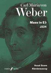 Weber: Mass in Eb published by Faber - Vocal Score