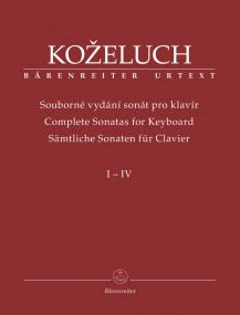 Kozeluch: Complete Sonatas for Keyboard Solo Volumes I-IV published by Barenreiter