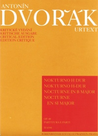 Dvorak: Nocturne in B Opus 40 for String Quintet published by Barenreiter